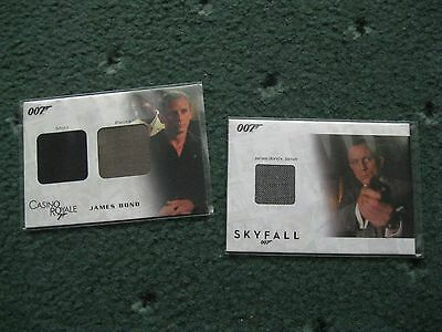 James Bond In Motion SSC1 & DC03 CASINO ROYALE & SKYFALL  Relic/Costume Cards