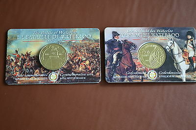 Belgian 2015 2.5 Euro Mint In Coin Card Waterloo 1815 - Best Coin Story Ever