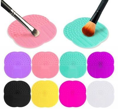 Silicone Makeup Brush Pad Washing Scrubber Board Cleaning Mat Tool