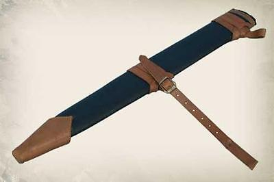 Black & Brown Leather Scabbard. Perfect For Stage Costume or LARP