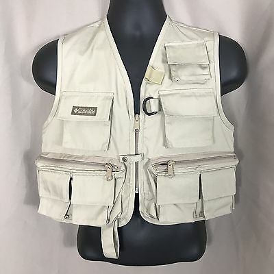 Columbia Fishing Vest Small Mens 9 Pockets NWOT New With Out Tags