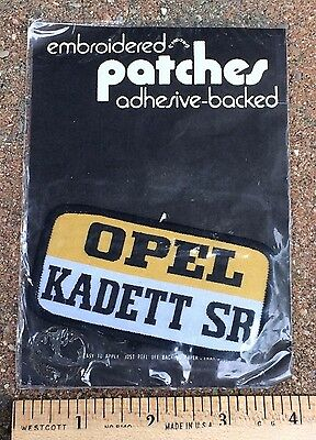 NIP Vintage Opel Kadett SR Euro Car Automobile Adhesive Patch