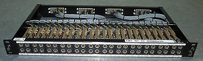 1U Audio Patchbay 48 point 2x 24, GPO 316 with 4x EDAC 56 on rear 1/2 Normalled