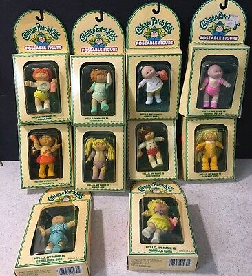 10 Vintage Cabbage Patch Kid Poseable Figures New In Box Appalachian Preemie Red