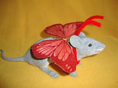 Red Glittery Butterfly Costume Rat from Petrats