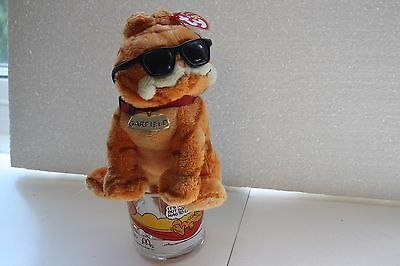 "Garfield Ty Beanie Sunglasses ""Cool Cat"" 2004 7"" plush + vintage McDonald's mug"