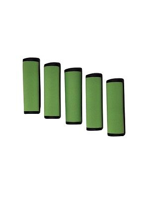5 Pieces Green Comfort Neoprene Luggage Handle Wrap Grip for Travel Bag Luggage