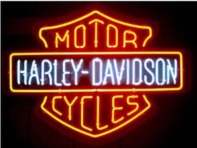 """New Vintage HD Motorcycle Real Glass Neon Light Sign Beer Bar Garage 19""""x15"""""""