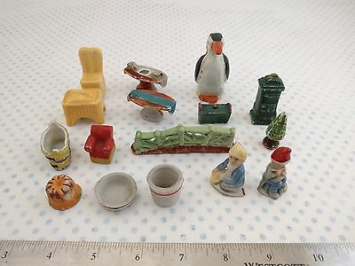 LOT OF 16 Vintage Miniature Doll House Porcelain Figurines Made In Japan • $4.26
