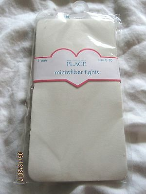 NWT The Children's Place Microfiber Tights 1 Pair Size 8-10 White