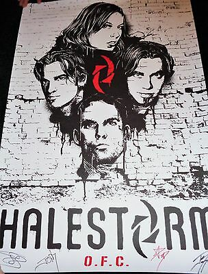 Halestorm 2016 Official Fan Club Poster - Signed - Numbered - Le 330