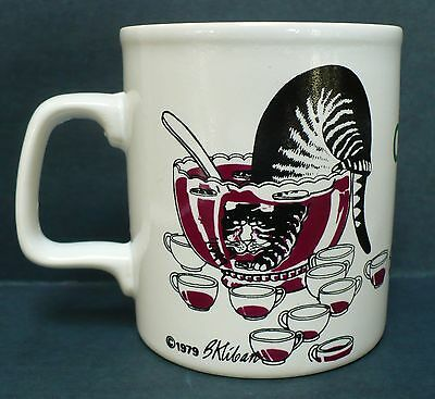 B Kliban Cat 1979 Coffee Tea Mug Cup Kiln Craft Cheers Cat In The Punch Bowl