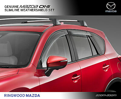 New Genuine Mazda CX-5 KE Slimline Weathershields set Accessory Part KE11ACWSETB