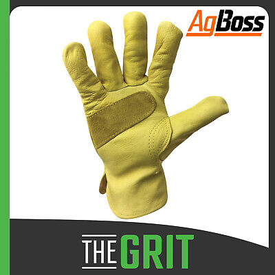 AgBoss Premium Riggers Gloves Protection Glove Leather Safety