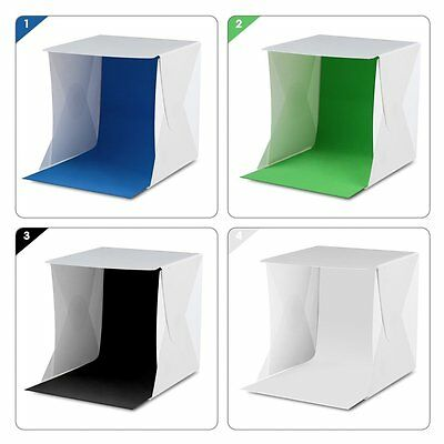 "Light Room Mini Photo Studio 9"" Photography Lighting Tent Kit Backdrop Cube Box"