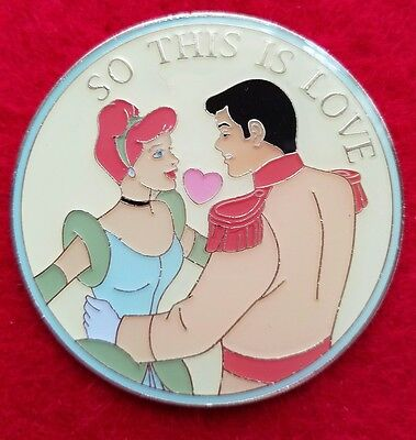 """Disney DSF DSSH Cinderella & Prince (LE 400) """"So This is Love"""" Jumbo Pin"""