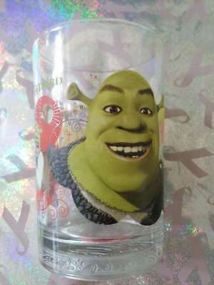 "Dreamworks McDonalds Glass Cup -Happy Shrek the Third  Donkey 5"" tall"