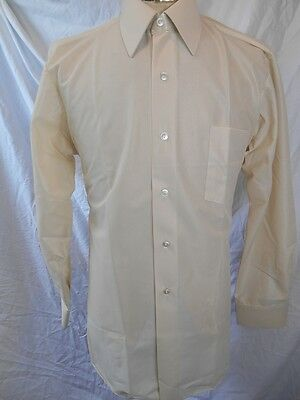 Vintage 60s Off White Gloweave Dress Shirt New/Old Stock - Never Worn 39 Medium