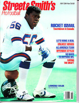 1991 Street & Smith's Pro Football Lawrence Taylor New York Giants, NFL draft