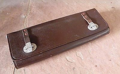 Swedish Military MAP HOLDER POUCH Vintage Leather