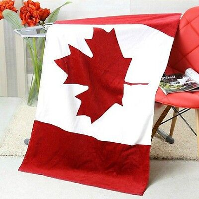 "30""x60"" CA CANADA Flag Banner Big COTTON BEACH BATH POOL TOWEL"