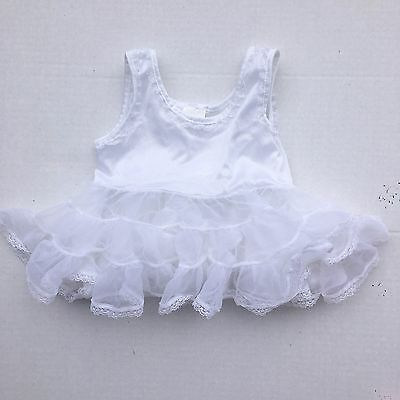 Vintage Fluffy Slip Petticoat 6m White Nylon Frilly Pageant Full J.C. Collection