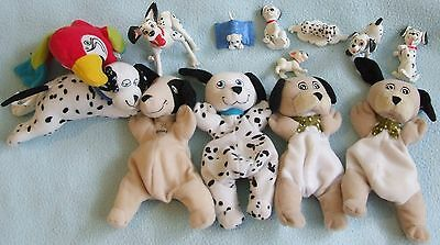 DISNEY - 101 102 Dalmatians - Bundle of Figures & Plush Toys