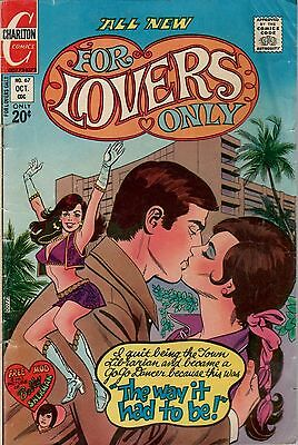 For Lovers Only.  Low Grade G Condition. #67   Charlton  Romance  Comic