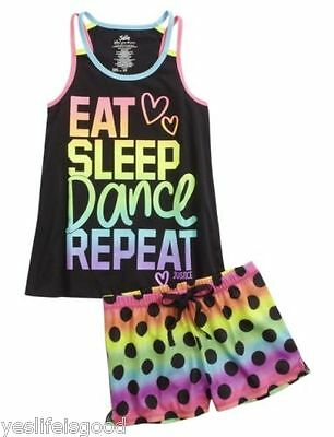 Justice Girls Size 5 pajamas DANCE THEME sleep boxers 2 piece Sleep Set NWT