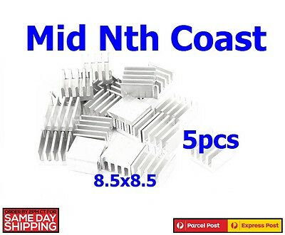 5pcs x Aluminum 8.8x8.8x5.0mm Heat Sink for Memory Chips LED, Power IC,