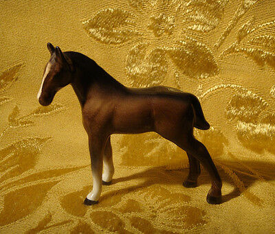 Vintage Beswick Porcelain Bay Horse Foal Figurine Made In England