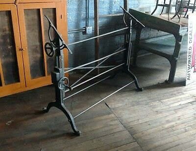 Frederick Post Cast Iron Cranking Drafting Table Industrial Study Office Art