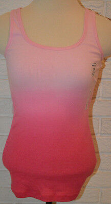 7c51cad6a2b4cc WOMEN S OLD NAVY Pink Dip Dye Sleeveless Fitted Tank Top Size Small ...
