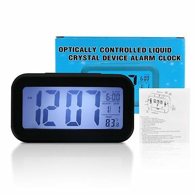 LED Alarm Clock Temperature Display Bedside Multi-funtion Electronic Desk Watch