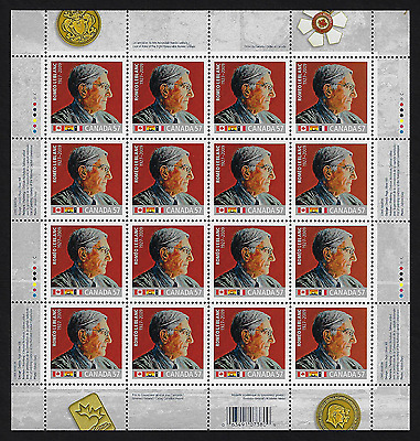 Canada Stamps — Full Pane of 16 — The Right Honourable Roméo Leblanc #2370 — MNH