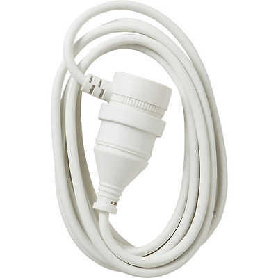 Chevron EXTENSION LEAD 3m + PIGGY BACK PLUG, 10A 2400W 230-240V,50Hz, Indoor Use