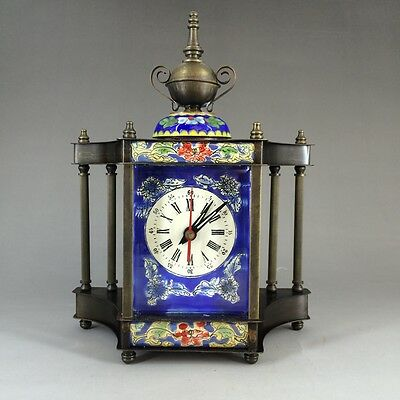 In 1888 the French antique hand painted enamel colors - clock
