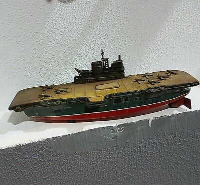 antique tin toy boat us navy