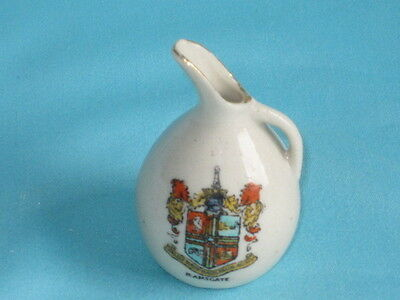 Jug 'SOUVENIR FROM THE BAZAAR..TWICE WRECKED BY ZEPPELINS 1915 & 1917'