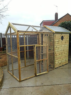 Aviary apex deluxe 10ft x 4ft overall size