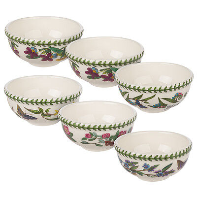 NEW Portmeirion Botanic Garden Fruit Salad Bowl Set 6pce