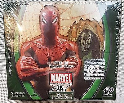 Vs System MARVEL Web of Spider-Man - Booster Box with 24 Packs - New/Sealed