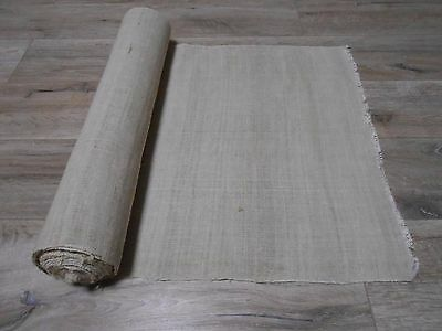 Antique Handwoven Thin HEMP&COTTON mix Fabric 0,53x10,5m 1930s  Great condition