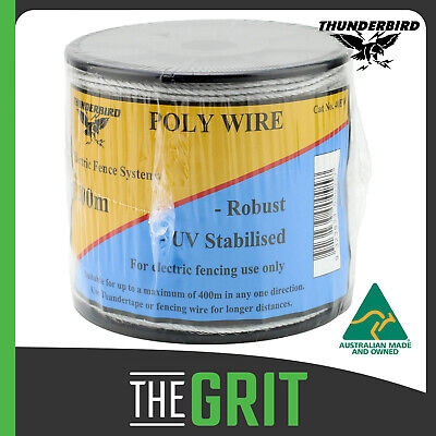 Thunderbird 200m Polywire Polyrope Electric Fence Poly Wire Permanent or Temp