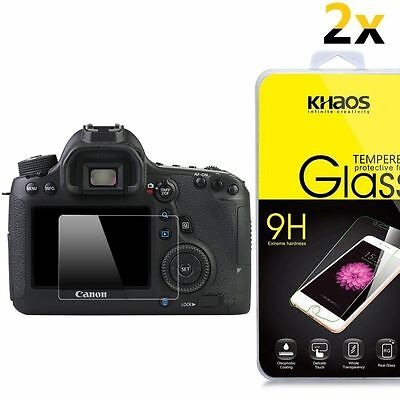 [2-Pack] KHAOS Ballistic Glass Screen Protector For Canon EOS 6D LCD