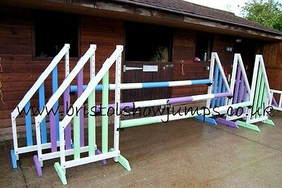 HORSE SHOW JUMPS WITH CUPS POLES (BPA) BY BRISTOLSHOWJUMPS with keyhole tracks