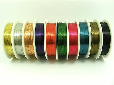 1 Spool x COPPER Brass 0.3mm Beading WIRE for Craft Jewelery Making Choose Color