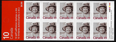Canada Stamps - Booklet Pane of 10 - Queen Elizabeth II #2012a (BK281) - MNH