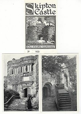 SKIPTON CASTLE ~ 6 POSTCARDS AND ADMISSION TICKET 7c9