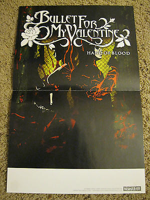 Bullet For My Valentine RARE Hand of Blood Poster Fever Poison Scream Aim Fire